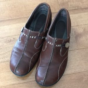 Brown Leather Clark's Loafers
